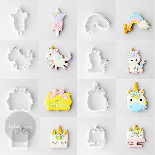 Unicorn Fondant Cutter 8pc Set