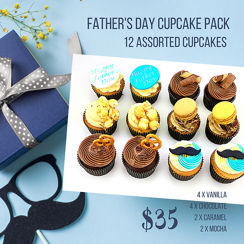 Father's Day - 12 Standard Size Cupcakes2