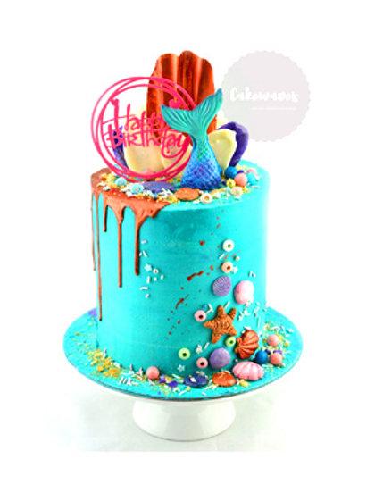 Buttercream and Fondant Mermaid Drip Cake Class - 8 Feb 2020