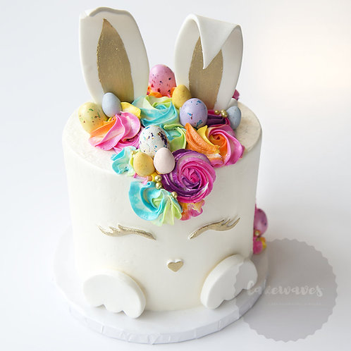 Buttercream and Fondant Easter Bunny Cake Class