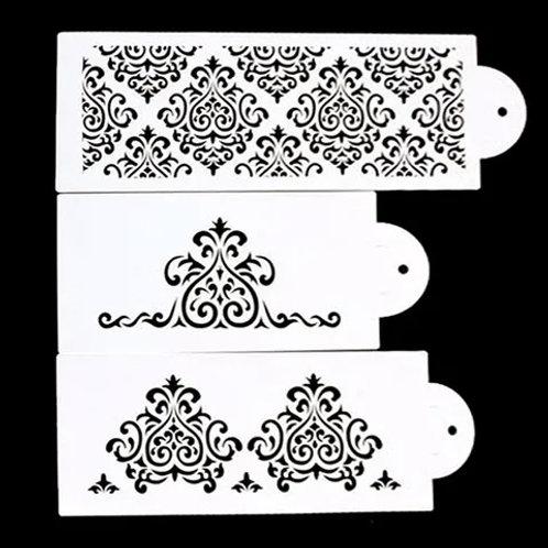 Damask Stencil Set - 3 pc