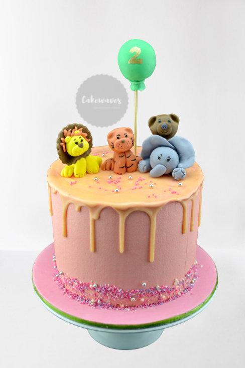 Jungle Friends Birthday Cake