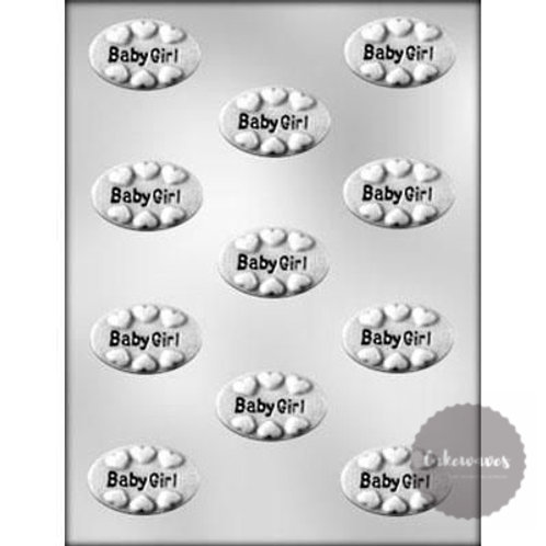 Baby Girl Oval Mint 11 Cavity Chocolate Mould