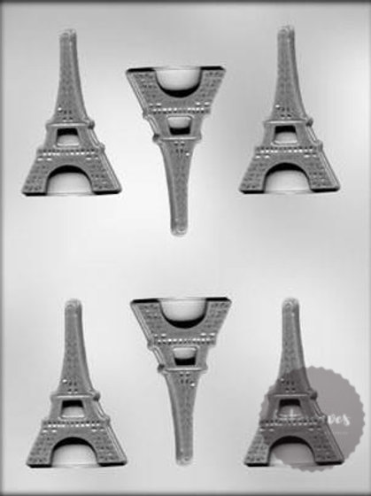 Eiffel Tower Flat 6 Cavity Chocolate Mould