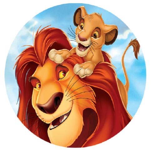 Lion King Edible Image Style3 - Round