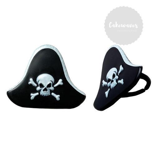 Pirate Hat Cupcake Rings