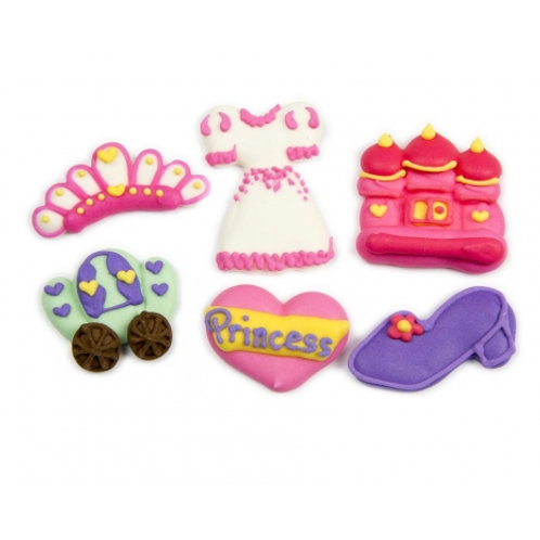 Princess Accessories Assorted Royal Icing Decorations 6pc