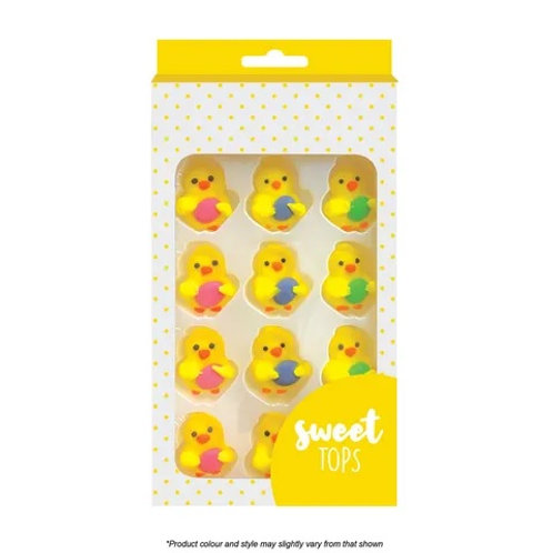 Chick With Egg Cupcake Toppers 12 pc