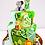 Safari Animal Fountain Birthday Cake
