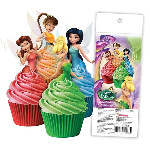 Disney Fairies Edible Wafer Cupcake Toppers  - 16pc