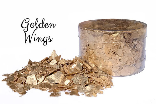 Crystal Candy GOLDEN WINGS Edible Flakes 6g