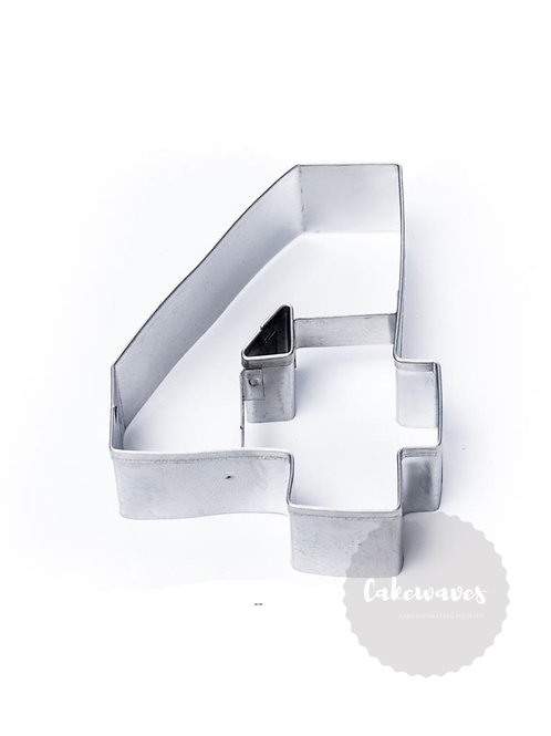 Number 4 Stainless Steel Cookie Cutter