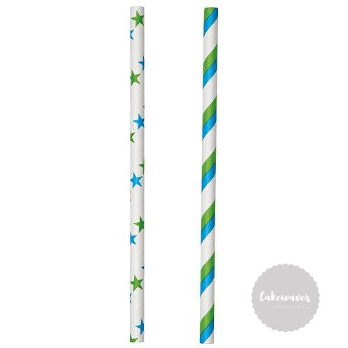 Coloured Lollipop Sticks Blue/Green