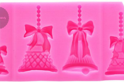 Christmas Decorative Bells Silicone Moluld