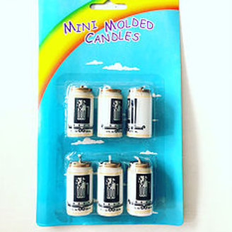 Beer Cans shaped candles 6 piece