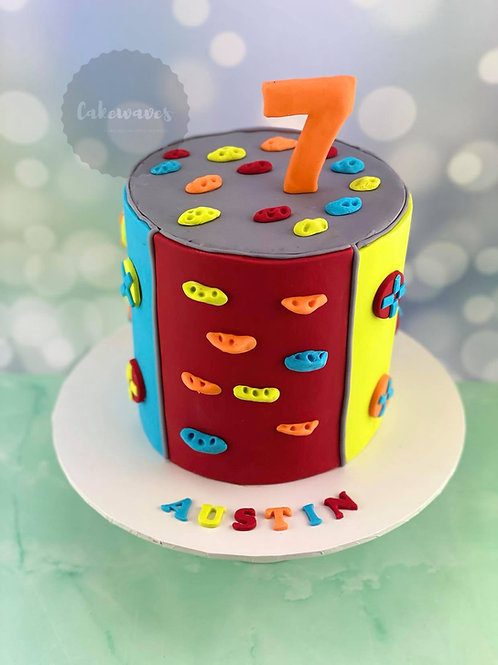 Rock Climbing Fun Birthday Cake