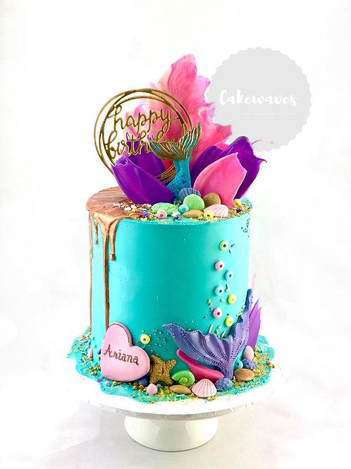 Mermaid Madness Buttercream Cake