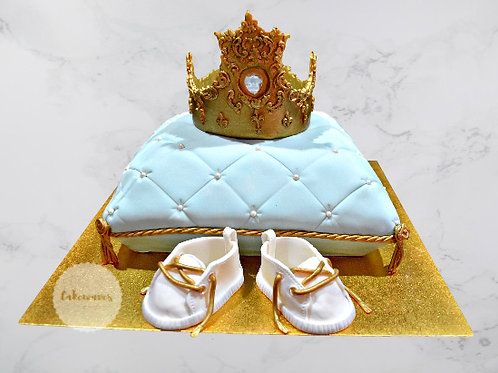 Crown On Pillow Baby Shower Cake