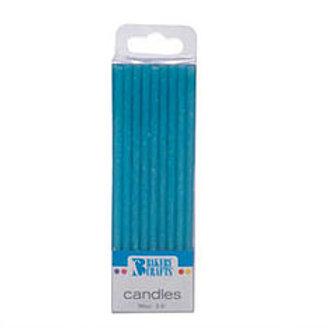 Birthday Candles Blue Glitter