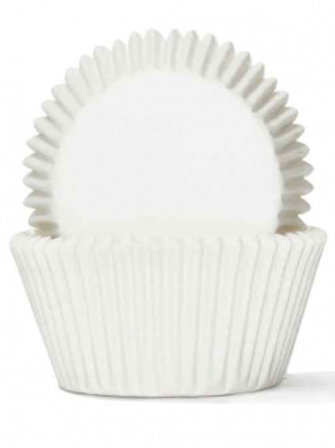Cupcake Cases / Baking Cups Standard 100pc - White