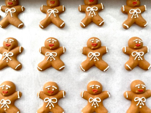 Ginger Breadman Royal Icing Decals - 3pc