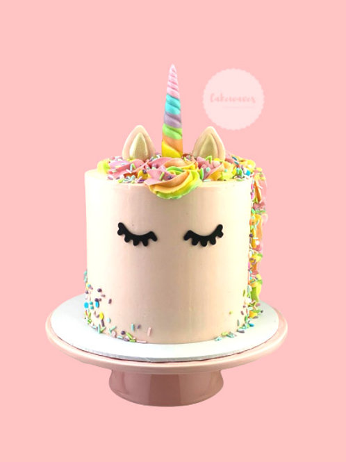 Pastel Pink Rainbow Unicorn Cake