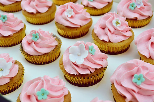 Pastel Floral - 12 Standard Size Cupcakes