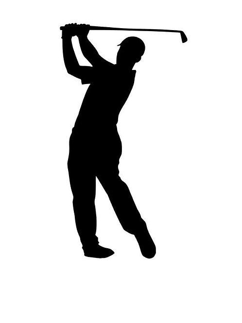 Golf Player - Black Acrylic Cake Topper