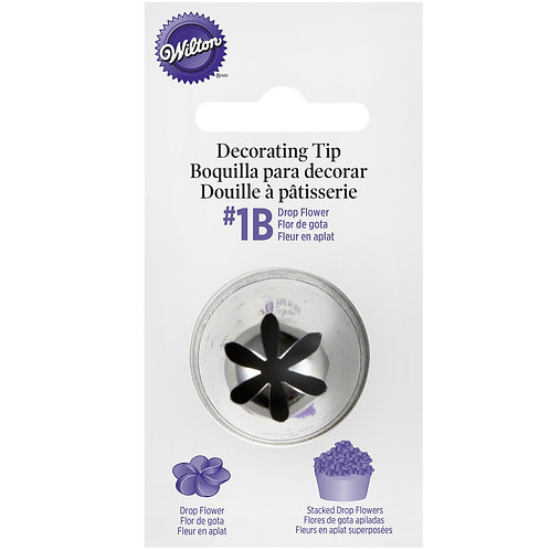 Extra Large #1B Drop Flower Tip Wilton carded