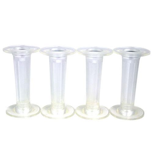 Clear Cake Pillar Round - 3 Inch