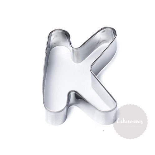 Letter K Stainless Steel Cookie Cutter