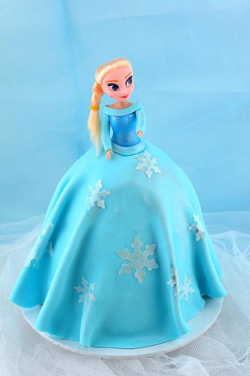 Frozen Elsa Fondant Bithday Cake - Small