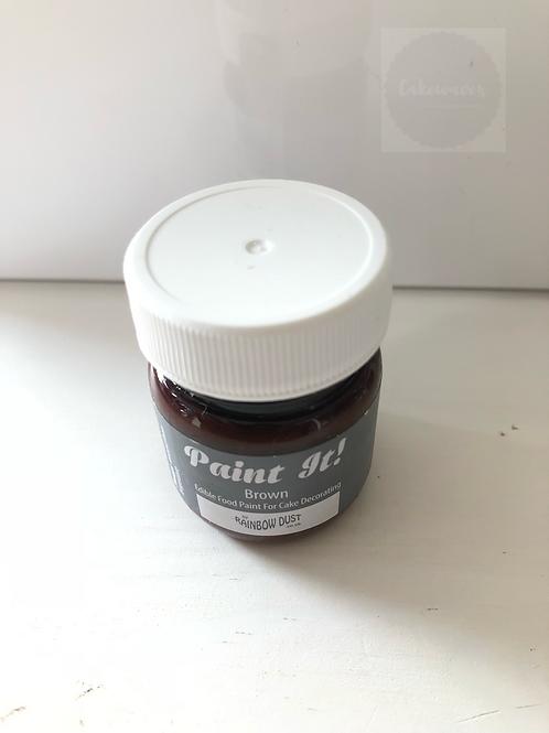 Rainbow Dust Edible Paint Brown