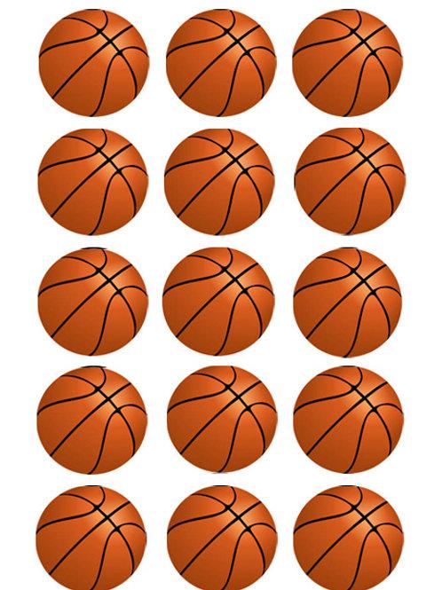 Basket Ball Edible Image - Cupcake cirles 2 inch