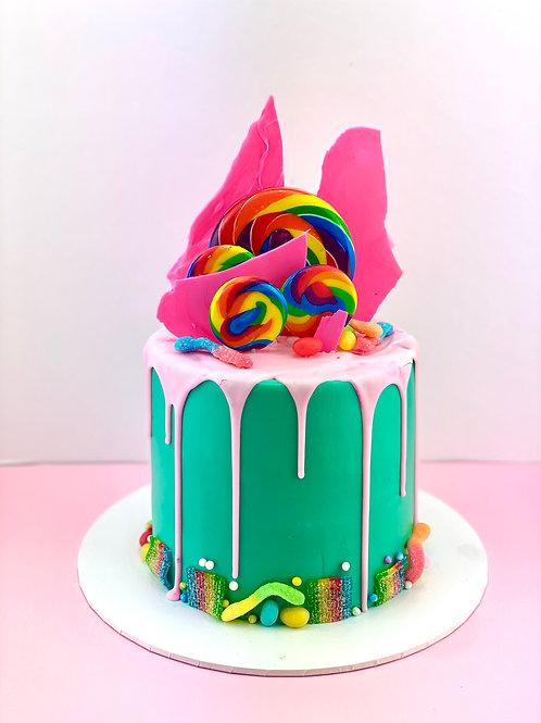 Rainbow Lolly Birthday Cake