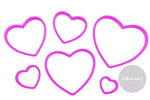 6 pc Nesting Heart Cookie Cutter Set - Wilton