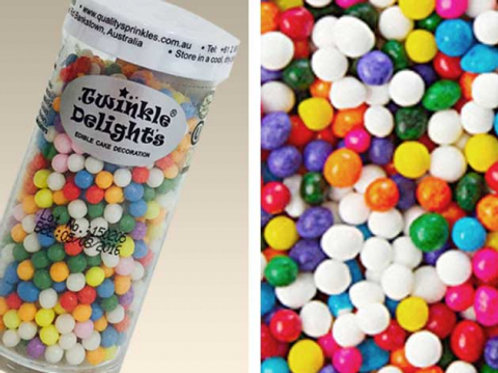 Quality Sprinkles - Natural Rainbow 4mm Pearls 60g