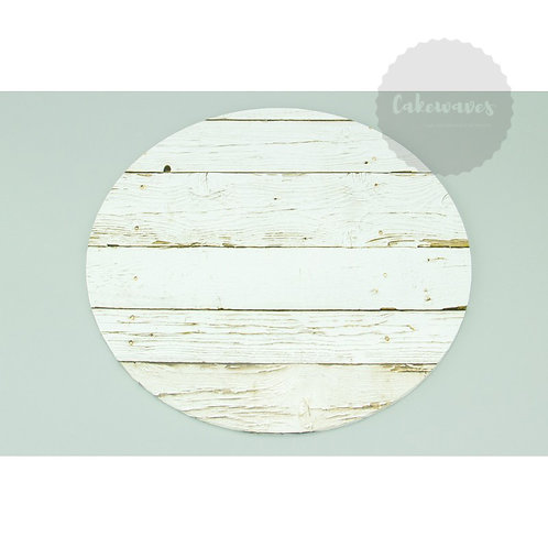 10 inch Round Wood Pattern Masonite Cake Board