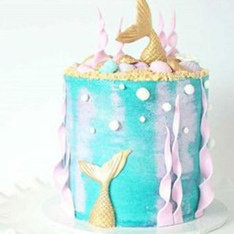 Buttercream and Fondant Mermaid Cake Class - 20 Feb 2021