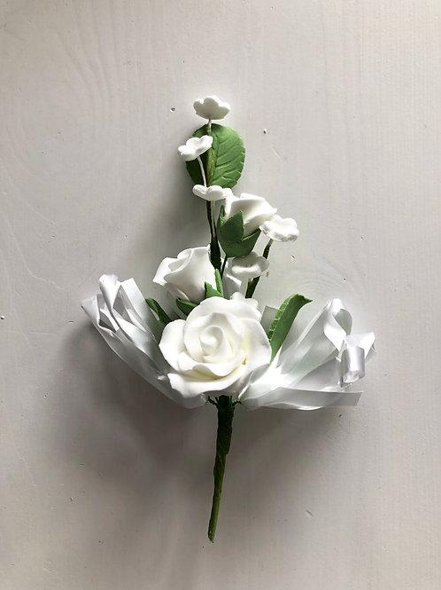 White Rose Flower Spray - Large