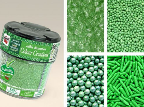 Quality Sprinkles 4 in 1 Mixed Jar - Green 78g
