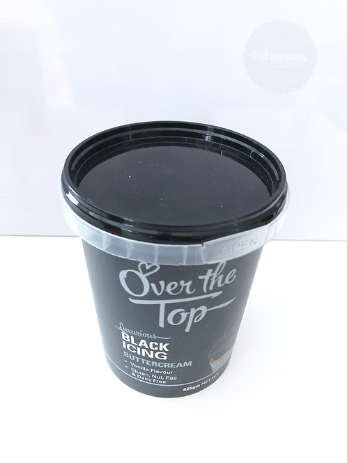 Over the Top Black Buttercream Icing