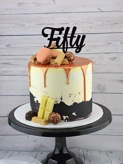Golden Drip Birthday Cake