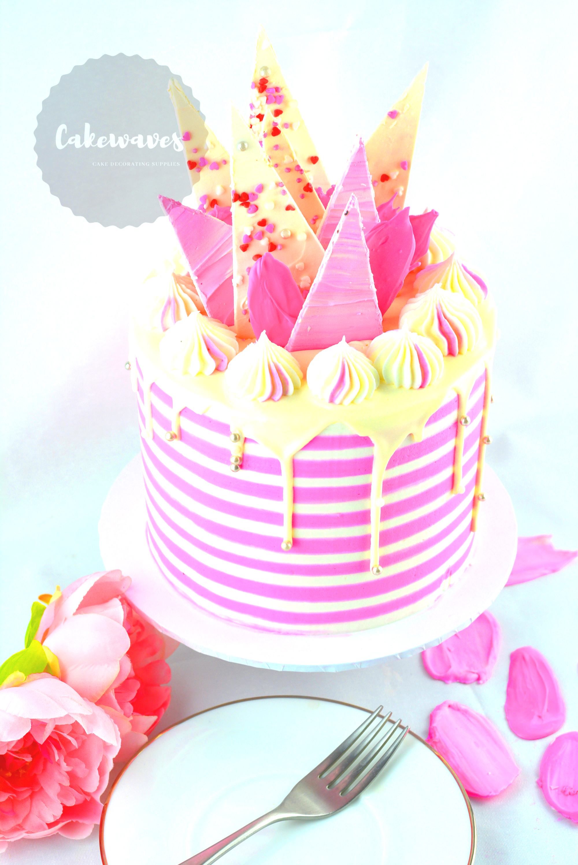 Buttercream Striped Cake