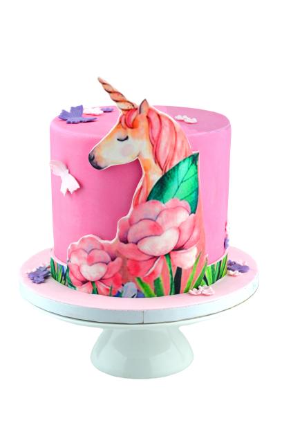 Unicornprintedcake1