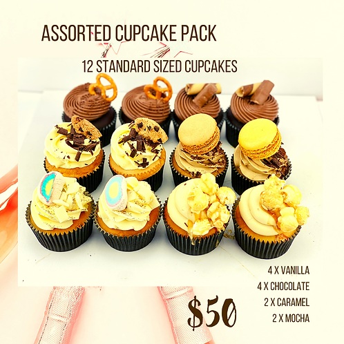 Assorted Party Cupcakes - 12 Standard Size Cupcakes