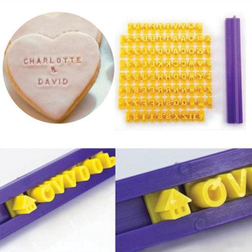 Alphabet and Number Cookie Press/ Stamp/ Embosser