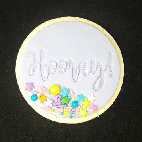 Hooray Cookie/ Fondant Embosser