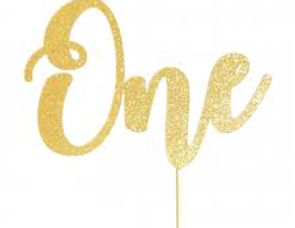 Acrylic Gold Cake Toppers