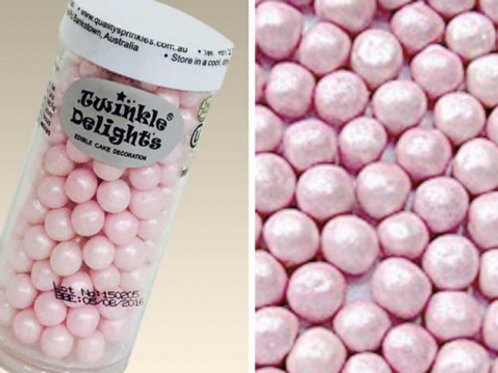 Quality Sprinkles - Natural Pearlized Pink 8mm Pearls 70g
